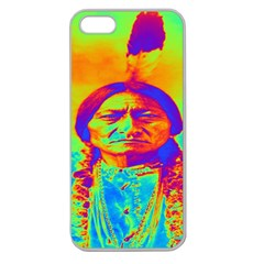 Sitting Bull Apple Seamless Iphone 5 Case (clear) by icarusismartdesigns