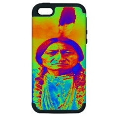 Sitting Bull Apple Iphone 5 Hardshell Case (pc+silicone) by icarusismartdesigns