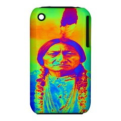 Sitting Bull Apple Iphone 3g/3gs Hardshell Case (pc+silicone) by icarusismartdesigns