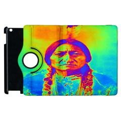 Sitting Bull Apple Ipad 2 Flip 360 Case by icarusismartdesigns
