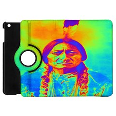 Sitting Bull Apple Ipad Mini Flip 360 Case by icarusismartdesigns
