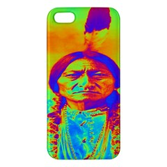 Sitting Bull Apple Iphone 5 Premium Hardshell Case by icarusismartdesigns