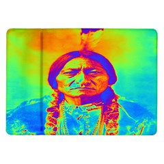 Sitting Bull Samsung Galaxy Tab 10 1  P7500 Flip Case by icarusismartdesigns