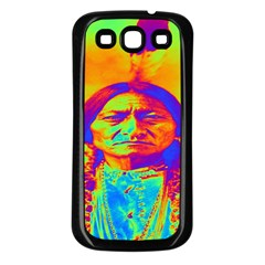 Sitting Bull Samsung Galaxy S3 Back Case (black) by icarusismartdesigns