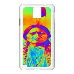 Sitting Bull Samsung Galaxy Note 3 N9005 Case (white) by icarusismartdesigns