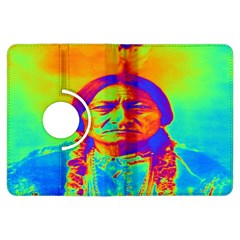 Sitting Bull Kindle Fire Hdx 7  Flip 360 Case by icarusismartdesigns