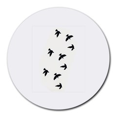 Waterproof Temporary Tattoo      Three Birds 8  Mouse Pad (round) by zaasim