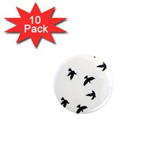 Waterproof Temporary Tattoo      Three Birds 1  Mini Button Magnet (10 Pack) by zaasim