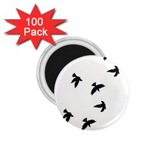 Waterproof Temporary Tattoo      Three Birds 1 75  Button Magnet (100 Pack) by zaasim