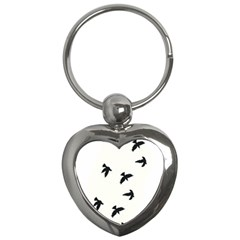 Waterproof Temporary Tattoo      Three Birds Key Chain (heart) by zaasim