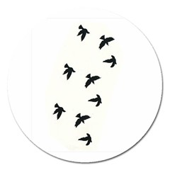 Waterproof Temporary Tattoo      Three Birds Magnet 5  (round) by zaasim