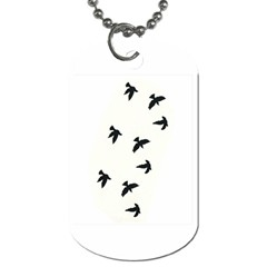 Waterproof Temporary Tattoo      Three Birds Dog Tag (two Sided)  by zaasim