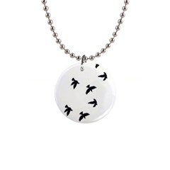 Waterproof Temporary Tattoo      Three Birds Button Necklace