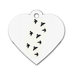 Waterproof Temporary Tattoo      Three Birds Dog Tag Heart (one Sided)  by zaasim
