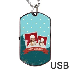 Xmas By Xmas   Dog Tag Usb Flash (two Sides)   X9ulqdpgo0ad   Www Artscow Com Front