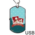 xmas - Dog Tag USB Flash (Two Sides)