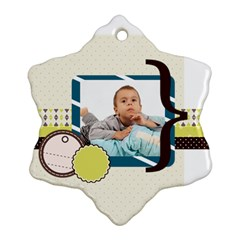 Kids By Kids   Snowflake Ornament (two Sides)   Gn39mzlopo27   Www Artscow Com Back