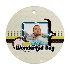 Kids By Kids   Round Ornament (two Sides)   Ehfyahnbvw21   Www Artscow Com Front