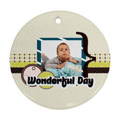 Kids By Kids   Round Ornament (two Sides)   Ehfyahnbvw21   Www Artscow Com Back