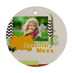 Kids By Kids   Round Ornament (two Sides)   Palwr0837dcs   Www Artscow Com Back
