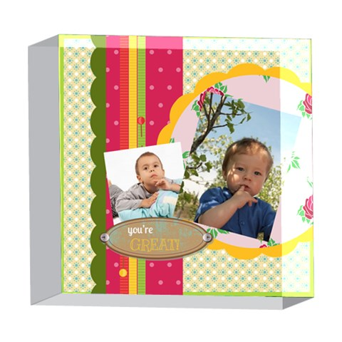 Kids By Kids   5  X 5  Acrylic Photo Block   3m2erddxcuk2   Www Artscow Com Front