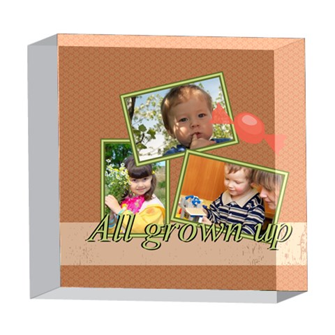 Kids By Kids   5  X 5  Acrylic Photo Block   9phv14o59ixw   Www Artscow Com Front