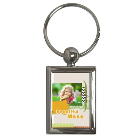 Kids By Kids   Key Chain (rectangle)   Au7ro75v3fwv   Www Artscow Com Front