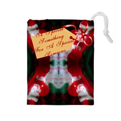 Christmas Salvation By Saprillika Drawstring Pouch (large)