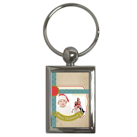 Xmas By Betty   Key Chain (rectangle)   Y3o7s21oadlq   Www Artscow Com Front
