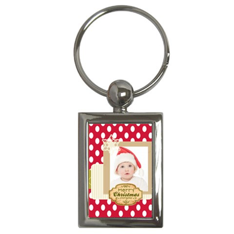 Xmas By Betty   Key Chain (rectangle)   Osn2om5gwmv9   Www Artscow Com Front