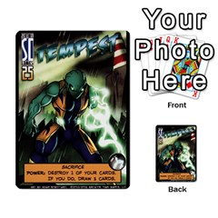 Sentinels Promos Iii (with All Promo Villians) By Charles Fox   Multi Purpose Cards (rectangle)   Enk3kmjtpnbd   Www Artscow Com Front 6
