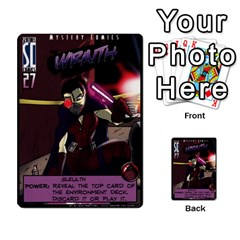 Sentinels Promos Iii (with All Promo Villians) By Charles Fox   Multi Purpose Cards (rectangle)   Enk3kmjtpnbd   Www Artscow Com Front 2