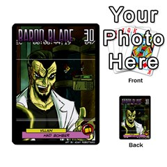 Sentinels Promos Iii (with All Promo Villians) By Charles Fox   Multi Purpose Cards (rectangle)   Enk3kmjtpnbd   Www Artscow Com Back 50