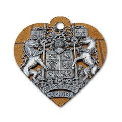 Metal Canada Coat Of Arms Dog Tag Heart (one Sided)  by stineshop