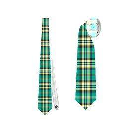 Emerald Plaid Necktie (two Sided) by DigitalArtCreations