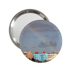 Rainbow Over Willemstad Cura?ao Handbag Mirror (2 25 ) by stineshop