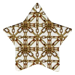 Chain Pattern Collage Star Ornament by dflcprints