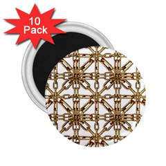 Chain Pattern Collage 2 25  Button Magnet (10 Pack) by dflcprints