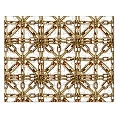 Chain Pattern Collage Jigsaw Puzzle (rectangle) by dflcprints