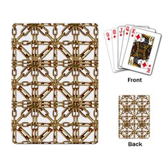 Chain Pattern Collage Playing Cards Single Design by dflcprints
