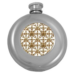 Chain Pattern Collage Hip Flask (round) by dflcprints