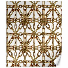 Chain Pattern Collage Canvas 8  X 10  (unframed) by dflcprints