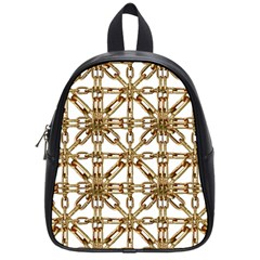 Chain Pattern Collage School Bag (small) by dflcprints