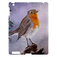 Robin On Log Apple Ipad 3/4 Hardshell Case by ArtByThree