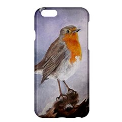 Robin On Log Apple Iphone 6 Plus Hardshell Case by ArtByThree