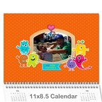 Wall Calendar 11 x 8.5 : My Lil Monsters - Wall Calendar 11  x 8.5  (12-Months)