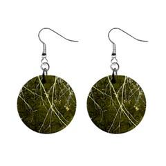 Wild Nature Collage Print Mini Button Earrings