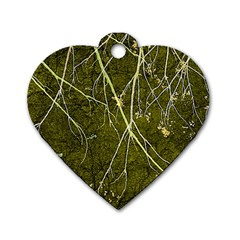 Wild Nature Collage Print Dog Tag Heart (one Sided)  by dflcprints
