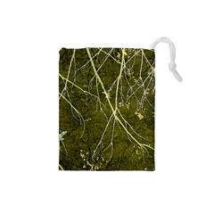 Wild Nature Collage Print Drawstring Pouch (small) by dflcprints