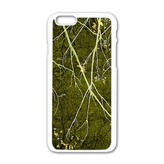 Wild Nature Collage Print Apple Iphone 6 White Enamel Case by dflcprints